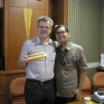 Ketua Departemen HI Binus bersama dengan Prof. Malcolm Cook