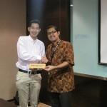 Tirta Mursitama, PhD, Kepala Departeman HI Binus bersama Dr. Kimura