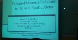 Tema Materi yang dibawakan oleh Prof. Samuel C.Y. Ku