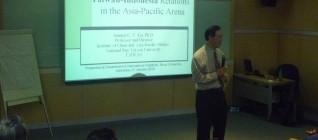 Prof. Samuel C.Y. Ku  memberikan gambaran umum hubungan Indonesia-Taiwan