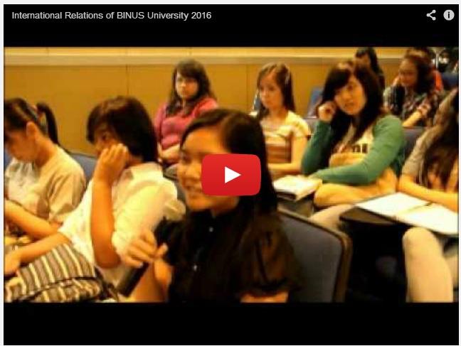 International Relations of BINUS University 2016