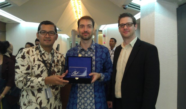 Dr Tirta (HoD IR), Mr Julio ARIAS (Head of Political Press and Information Section) EU