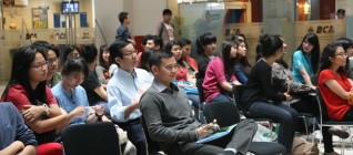 Suasana Seminar di Food Court Binus Anggrek
