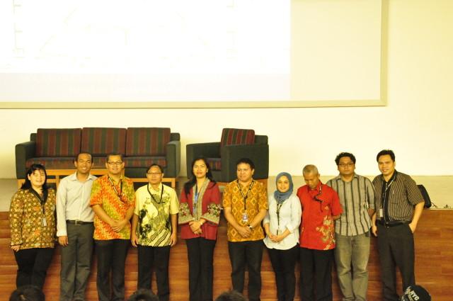 Foto bersama Pembicara Seminar UNICEF dan Dosen Binus