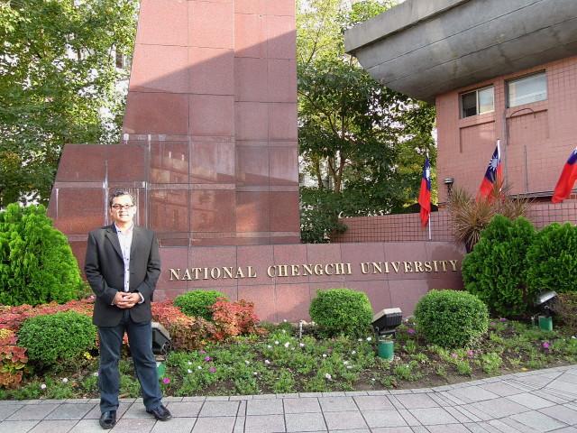 Tirta Nugraha Mursitama, PhD (Ketua Departemen HI Binus) berkunjung ke National Cheng Chi University (NCCU) Taipeh