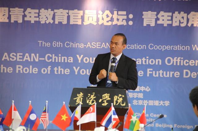 M Faisal Karim, Dosen HI Binus, menjadi pembicara dalam ASEAN-China Education Week 2013 di Guizhou, China