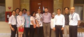 Dr. Graham with Faculty Members of BINUS IR