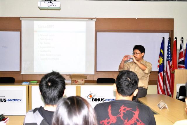 Achmad Soekarsono, Dosen Komunikasi Internasional dan Multikulturalism memberikan sambutan dalam peresmian BIRDS