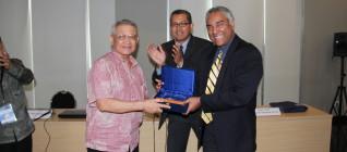 Prof Dahana (Bina Nusantara University), Dr Tirta Mursitama (IR Binus), and Prof. Leonard Sebastian (RSIS)
