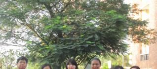 Cia, Nova, dan Nisa bersama Coach Achmad Sukarsono dan Dayu Nirma