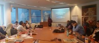 Mutti Anggitta mempresentasikan kurikulum kajian keamanan Universitas Bina Nusantara
