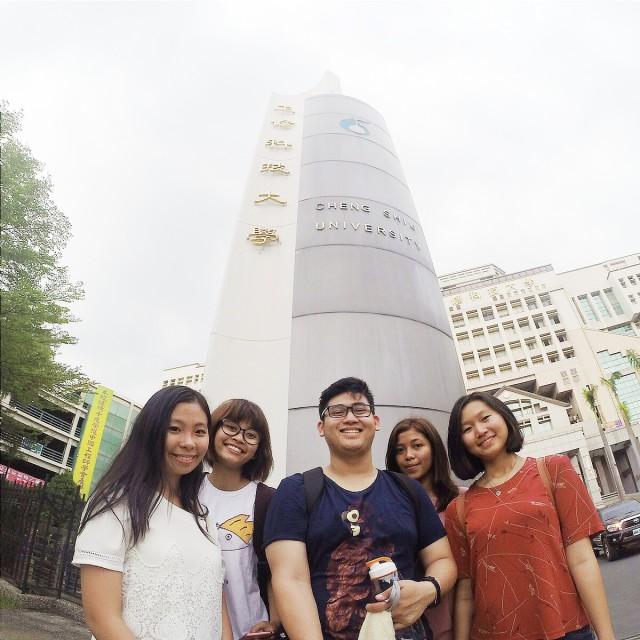 In front of Cheng Shiu University, Kaohsiung, Taiwan