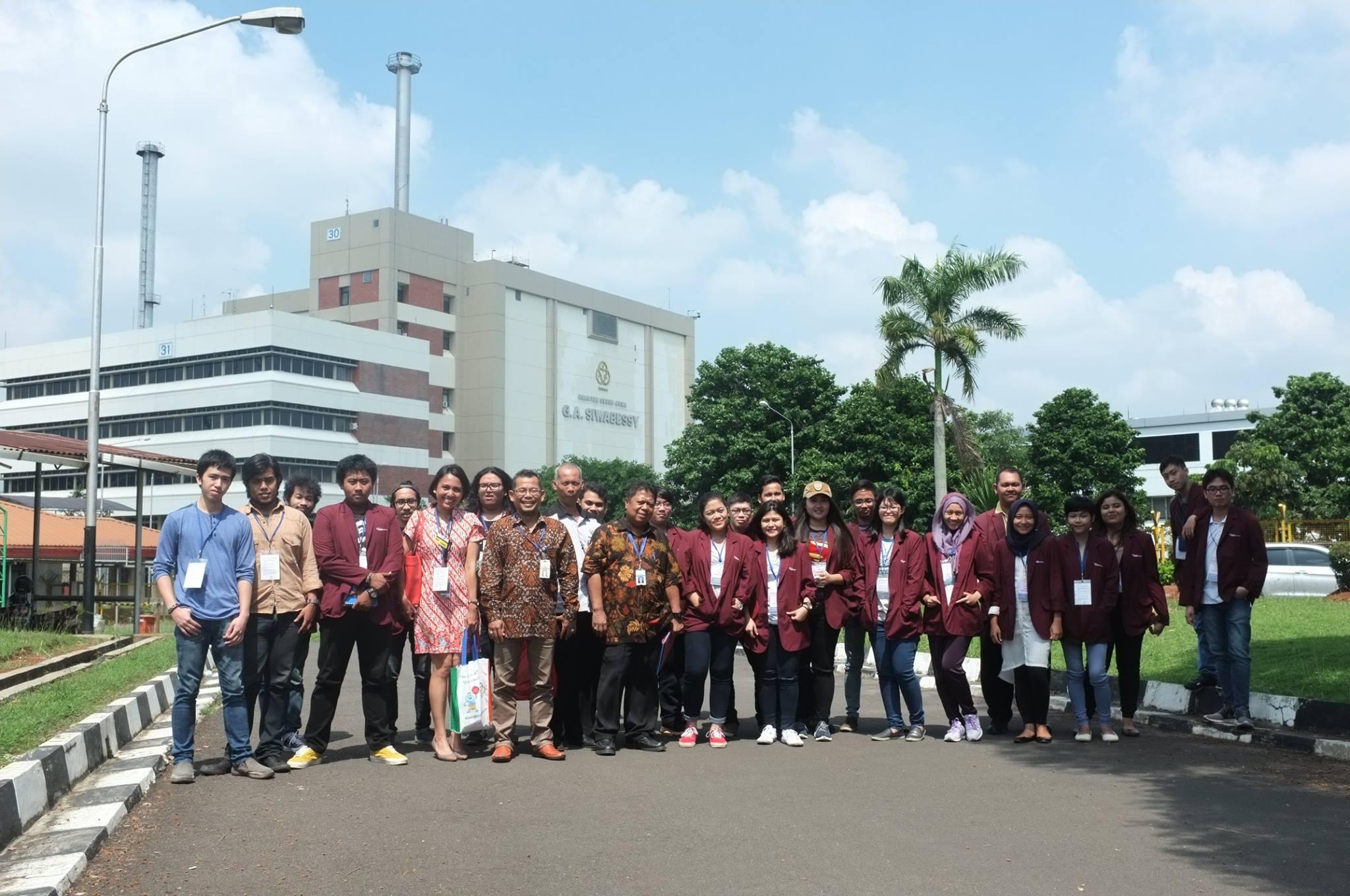 BINUS University berkunjung ke Pusat Teknologi Reaktor dan Keselamatan Nuklir - BATAN Serpong