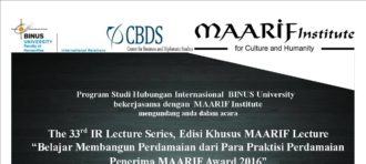 Invitation to The 5th and 6th Indonesia–Taiwan Lecture Series