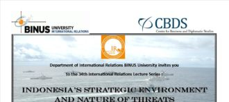 """Invitation to the 34th International Relations Lecture Series """"Indonesia's Strategic Environment and Nature of Threats"""""""