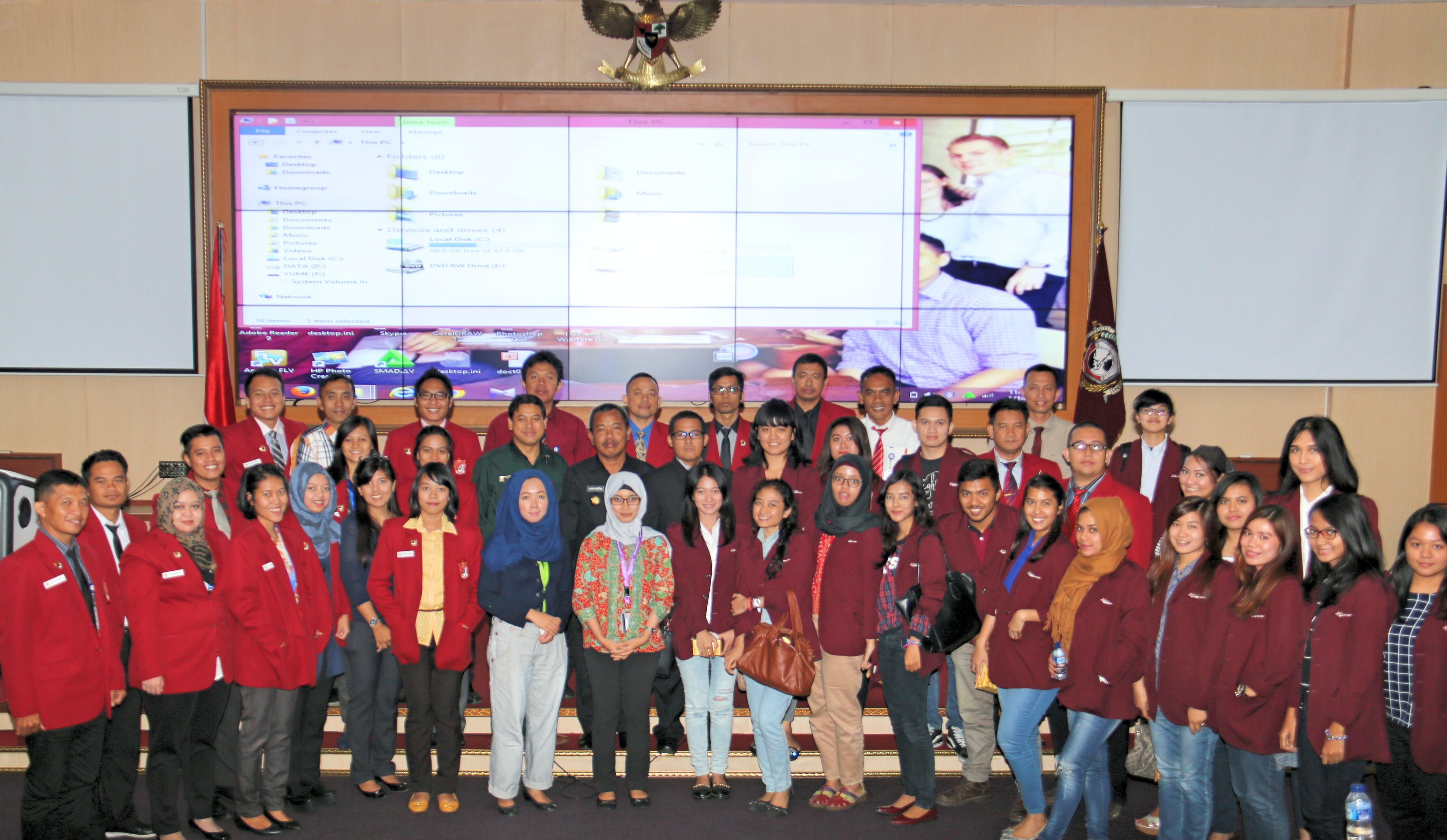 Kunjungan Mahasiswa HI Binus ke Universitas Pertahanan
