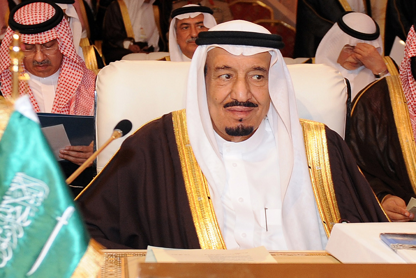 epa03641082 Saudi Crown Prince Salman bin Abdul Aziz al-Saud attends the Arab League Summit in Doha, Qatar, 26 March 2013. The Syrian opposition was on 26 March handed Syria's seat in the Arab League. National Coalition leader Moaz al-Khatib and a small delegation were in attendance at the annual summit of the 22-member pan-Arab grouping.  EPA/STR