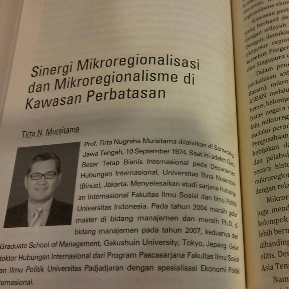 Bab buku oleh Prof. Tirta