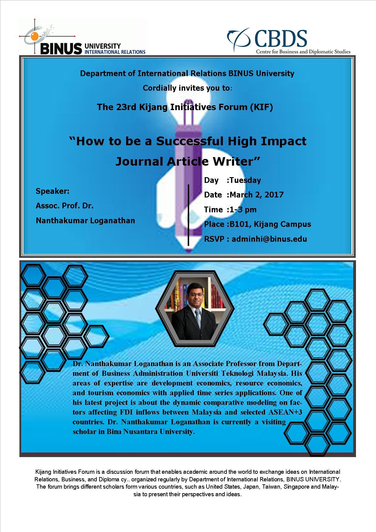 23rd Kijang Initiatives Forum