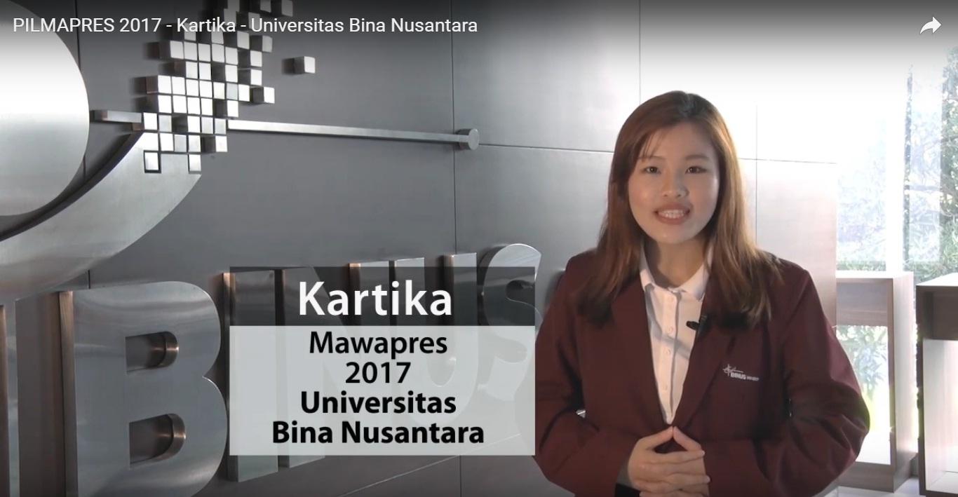 PILMAPRES 2017 – Kartika – Universitas Bina Nusantara