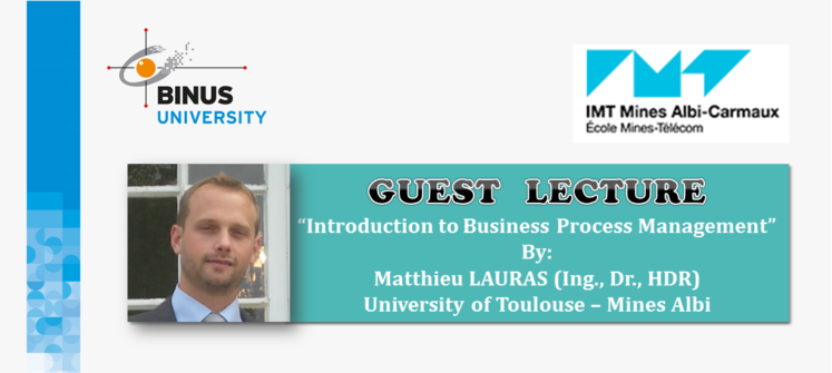 Invitation to Guest Lecture by Matthieu Lauras from University of Toulouse – Mines Albi, France