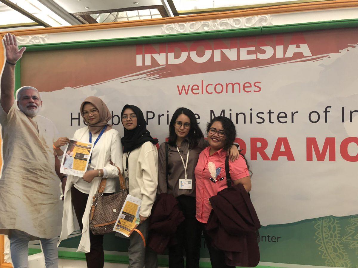 Mahasiswa HI Binus dalam Grand Community Reception Perdana Menteri India