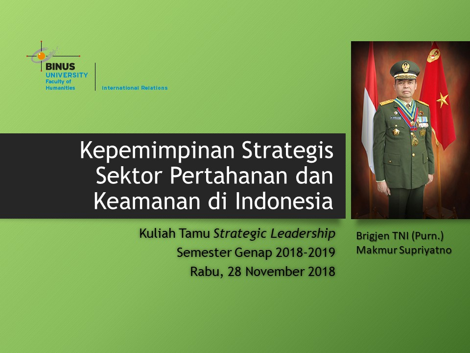 Kepemimpinan Strategis Sektor Hankam di Indonesia